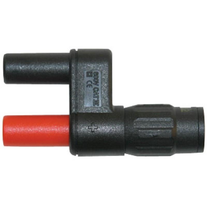 Adapter BNC-Stecker / 4mm-Buchse 600V (2 Stk)