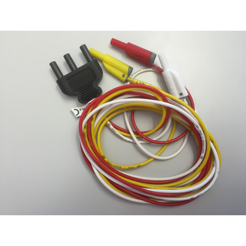 Anschlussleitung 3-adrig (rot, gelb, weiss) zu 6115 Installationstester