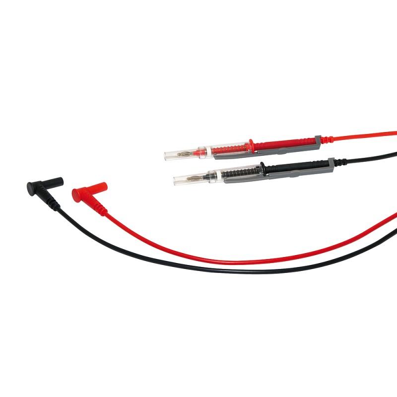 2 Messleitungen IP2X 1,5m, CF4 Cat4 600V für VAT  rot / schwarz