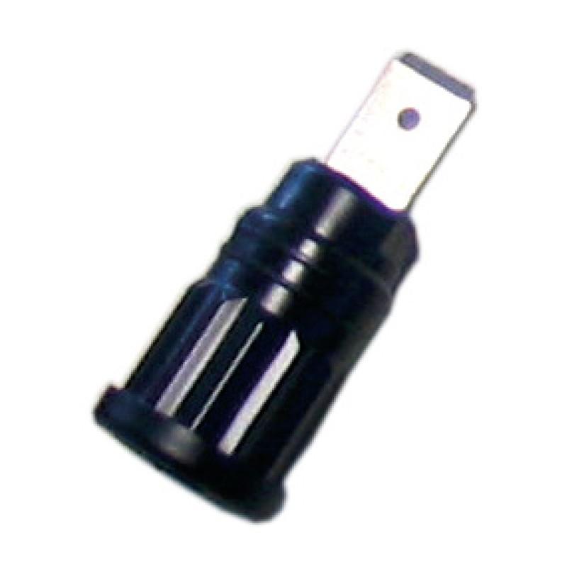Sicherheitsbuchse 6.3 x 10mm blau